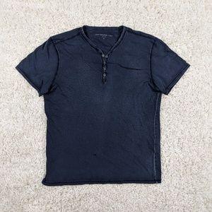John Varvatos USA Snap Button Henley Shirt M A16
